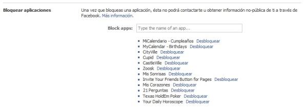"""Ubique la sección """"Bloquear aplicaciones""""."""